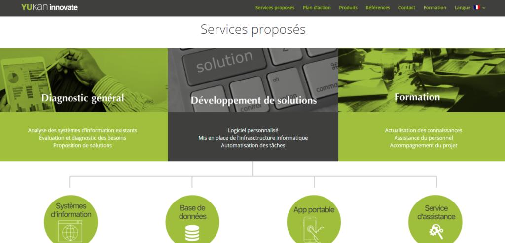 Yukan Innovate - solution logicielles personnalisées