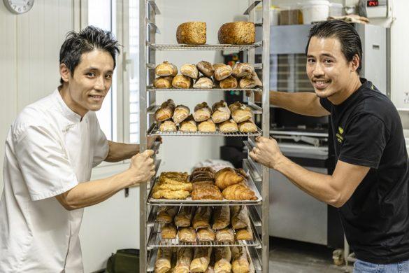 Christophe et Nicolas Yu - créateurs boulangerie pâtisserie Yu & Mie - Cayenne