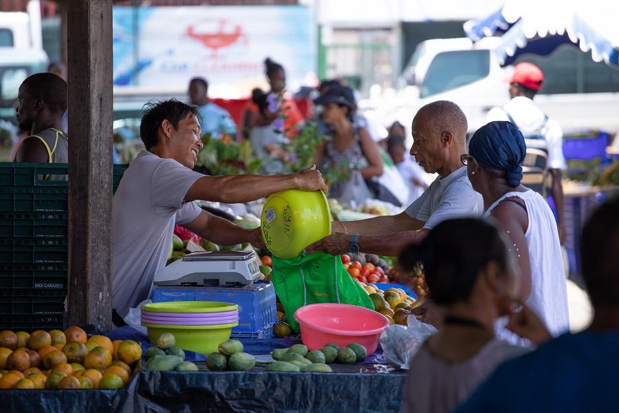 Marché en Guyane