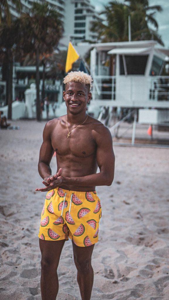 Steven Aimable sur les plages de Floride