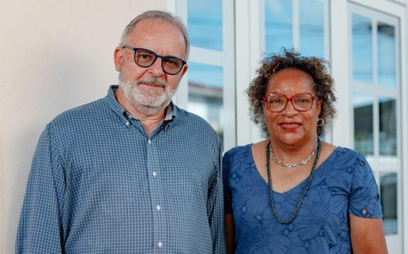 Patrick Clop et Viviane Tchung-Ming, président et vice-présidente de l'ARACTE Guyane