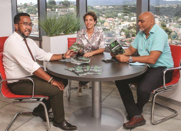 Pascal Fardin, Lucie Manuel, Jean-Yves Bonnaire - Contact-Entreprises - Martinique